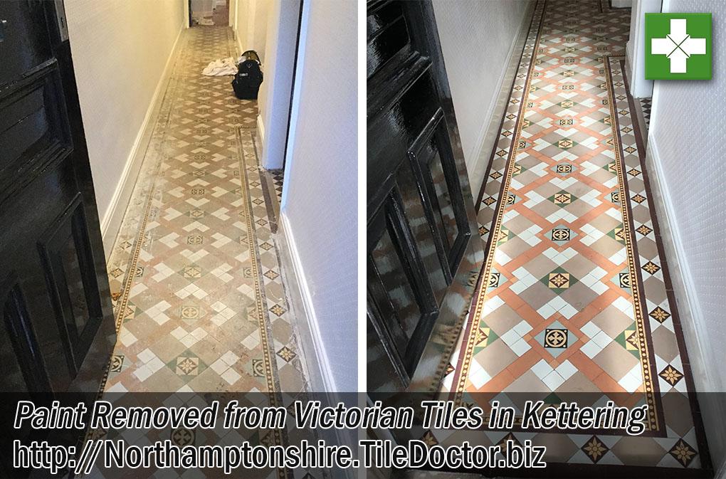 Victorian Tiled Hallway Floor Before After Restoration Kettering