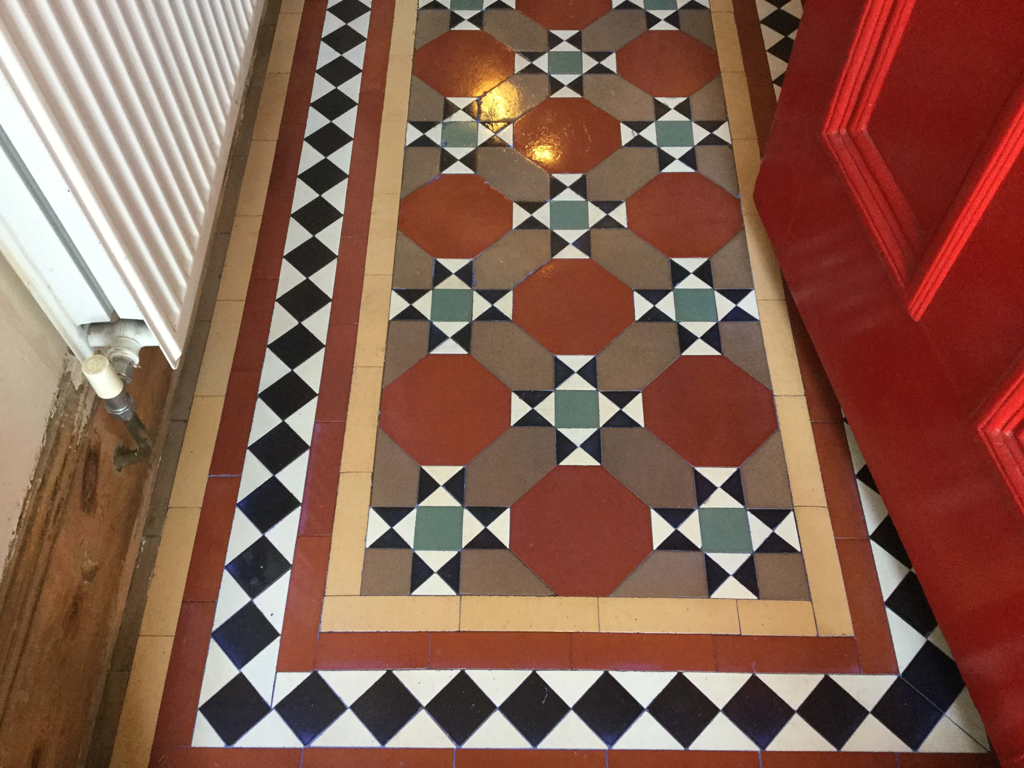 Victorian Tiled Hallway Floor Wellingborough After Restoration