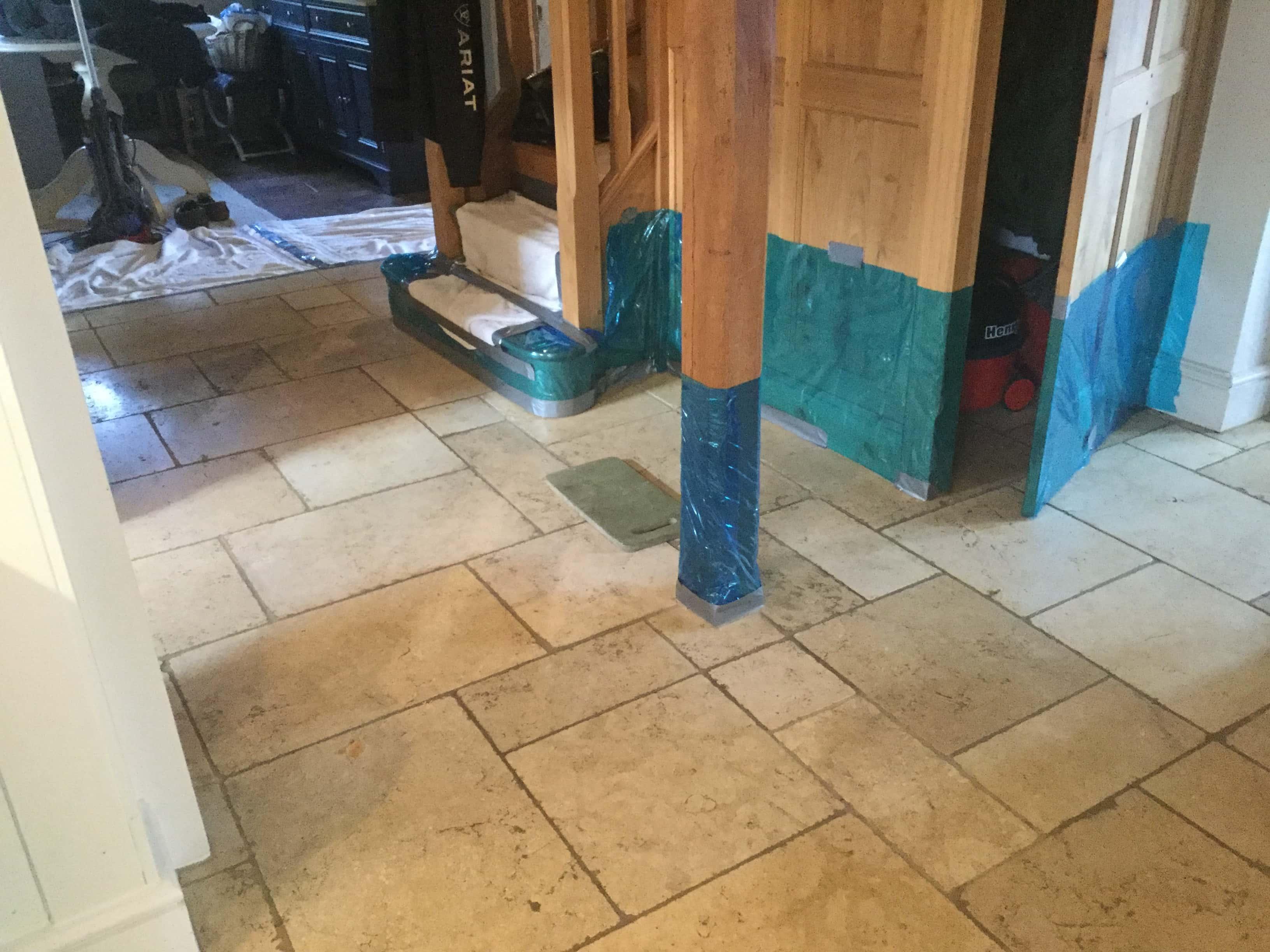 Limestone Kitchen Floor Before Renovation Yelvertoft