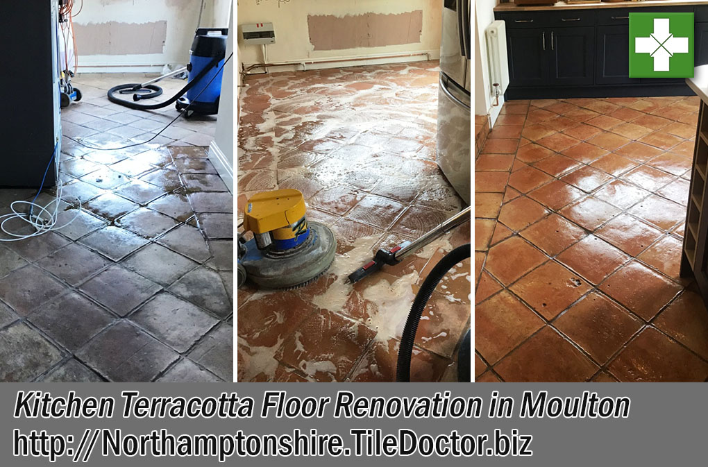 Kitchen Terracotta Floor Before After Renovation Moulton