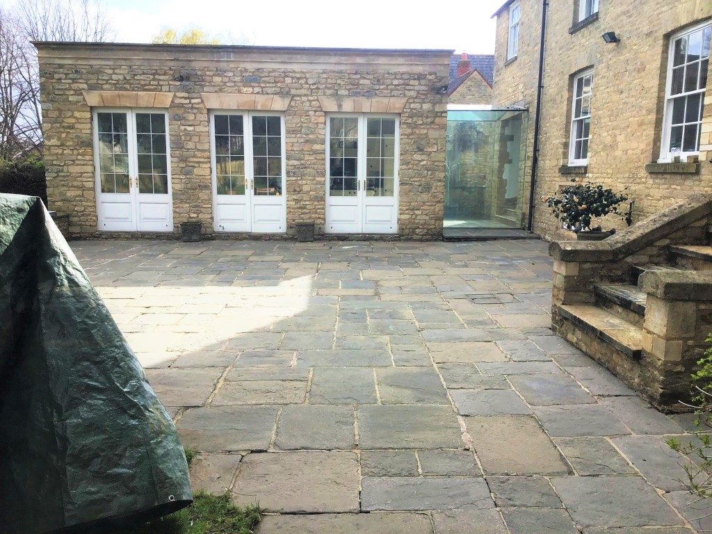 Flagstone Patio After Cleaning Stanwick