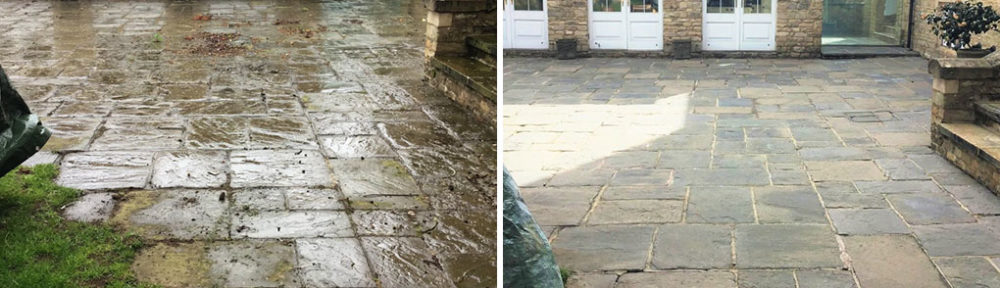 Renovating a Twenty Year Old Flagstone Patio in Stanwick
