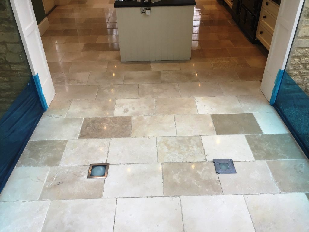 Limestone Floor Tiles After Polishing Stanwick