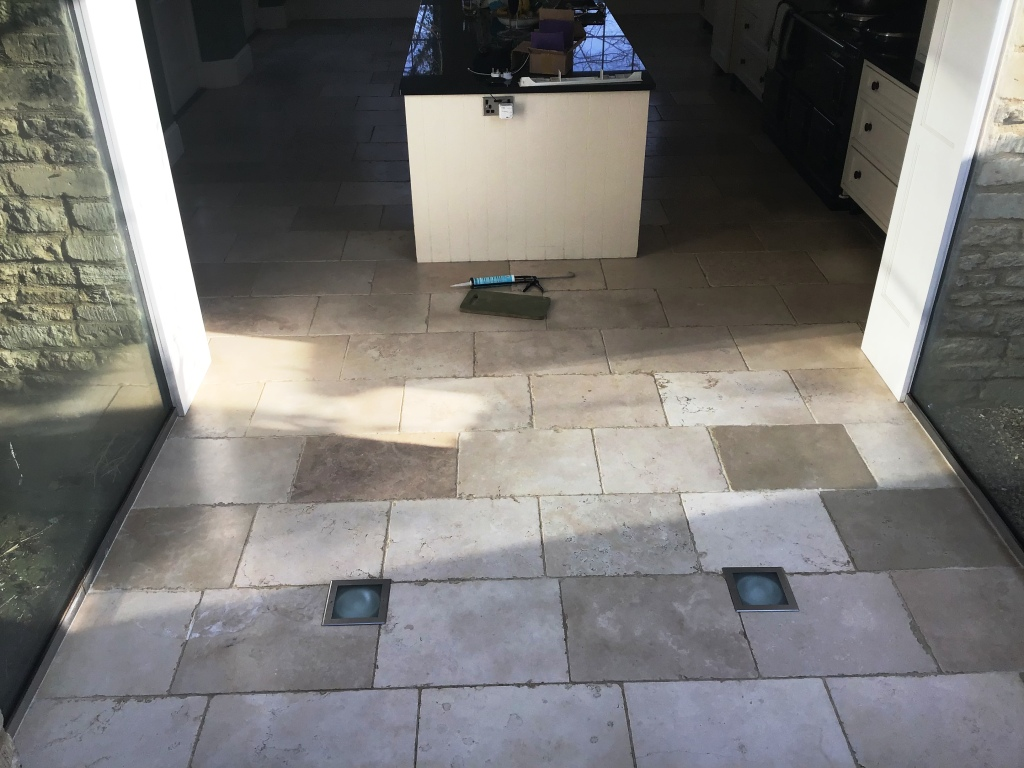 Limestone Floor Tiles Before Polishing Stanwick