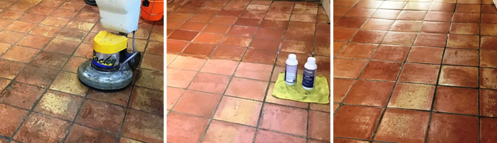 Terracotta Tiled Floor Before After Renovation Flore Village