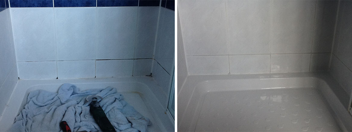 Mouldy Shower Cubicle before after Northampton