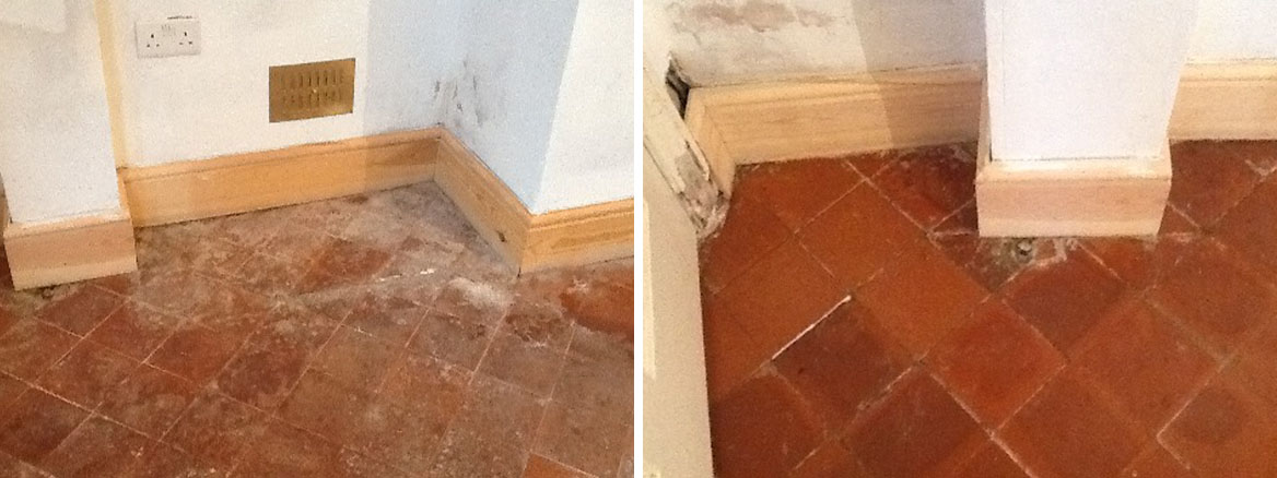 Quarry Tile Before and After Cleaning Thrapston