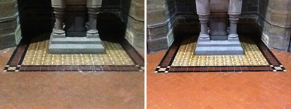 Victorian Quarry Tile Cleaning St Marys Church