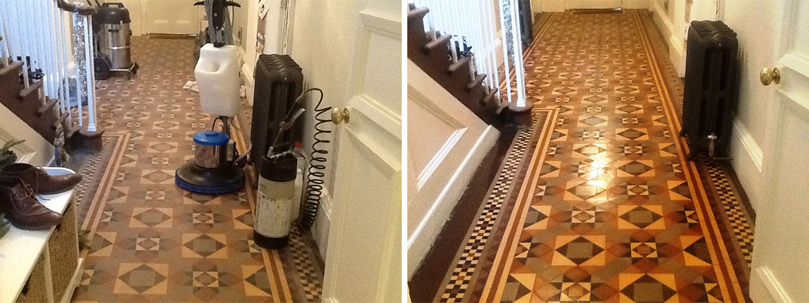 Victorian Tiles–Stamford Before and After Cleaning