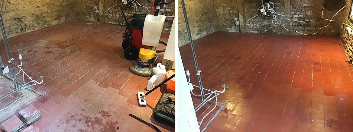 Victorian Quarry Tiled Floor Restored Broughton