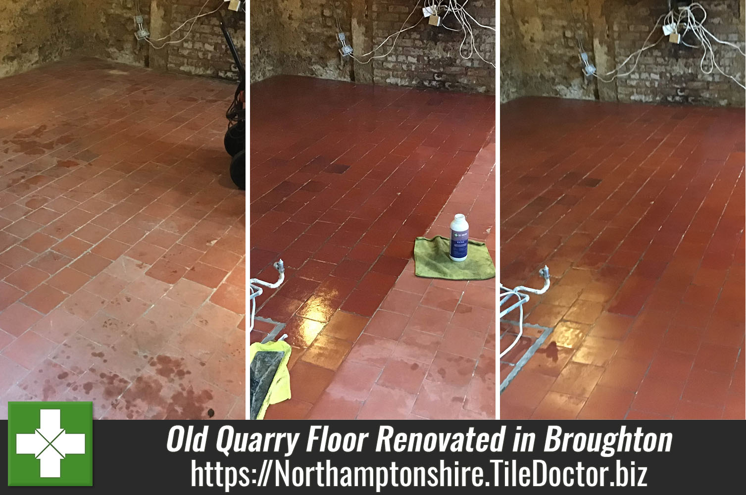 Quarry Tiled Floor Restored Following Cottage Remodel in Broughton Village